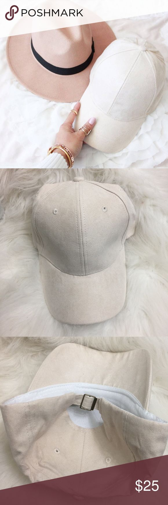 ✨NWOT✨ Faux Suede Tan Cap Faux suede cream/tan colored cap. Classic baseball cap with a soft faux suede texture. Adjustable buckle in back. One size fits all. Available in Light tan/cream color. Brand listed for exposure. NWOT 👈🏽  100% Cotton, Made in China Zara Accessories Hats