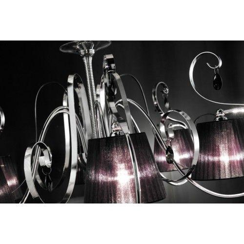 Romantica lampadario a 6 luci in metallo e pendenti Swarovski