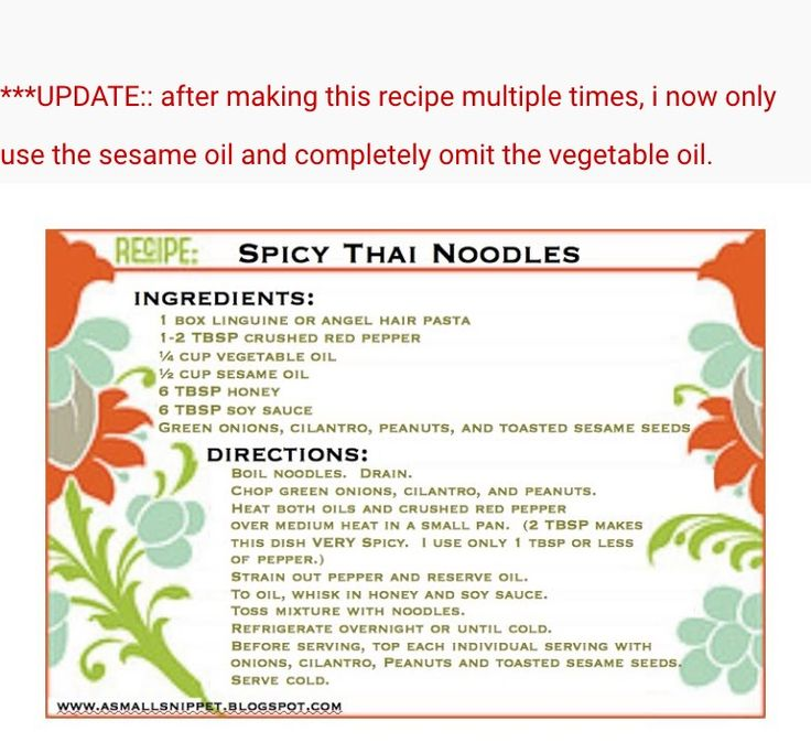 Spicy Thai noodles modified