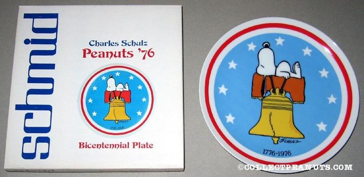 Peanuts Bicentennial PlatePeanut Collection, Allamerican Peanut, All American Peanut, Peanut Bicentennial, Peanut Gang
