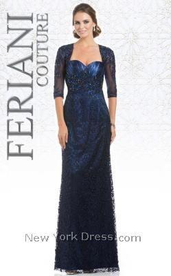 Regal ballet-sleeved gown with Queen Anne neckline by Feriani 26133