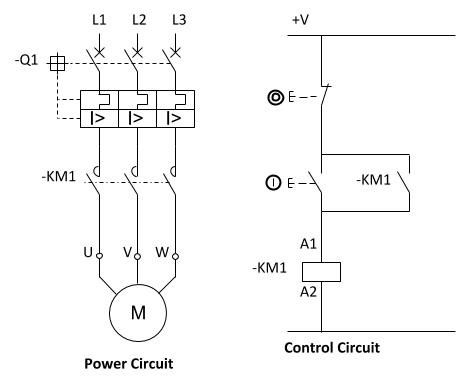 Dol power and control circuit | Refrigeration and aiconditioning | Circuit, Electrical wiring