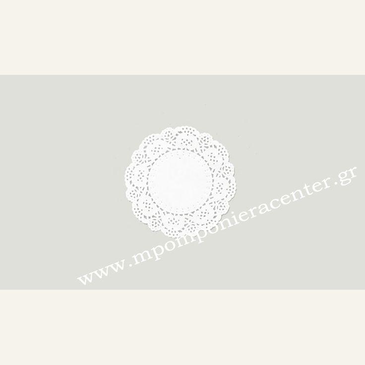 Σουπλά χάρτινο στρογγυλό δαντέλα διάμετρος 9cm