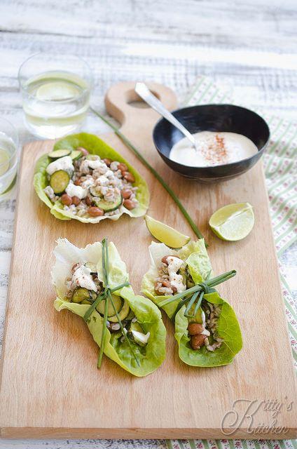 tacos di lattuga e farro by Elisakitty's Kitchen, via Flickr