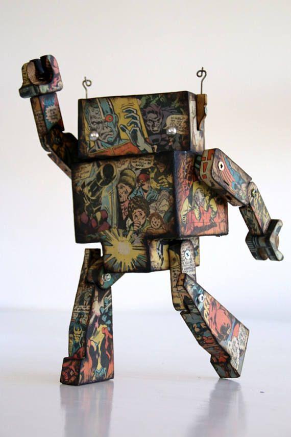 Vintage Comic Robot