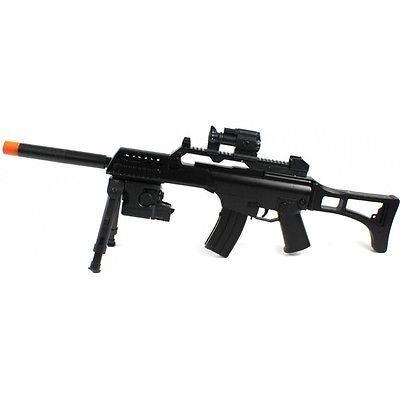 awesome G36 R36 TACTICAL ELECTRIC AEG AIRSOFT RIFLE w 6mm BB Sniper Gun Light Air Scope - For Sale