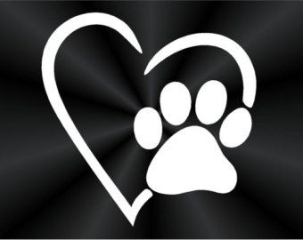Paw Print Decal, Puppy Print, Dog Print, Pet Adoption, Heart, Cute, Popular, Truck, Wall, Laptop, Car, Window Vinyl Decal, Sticker 10519