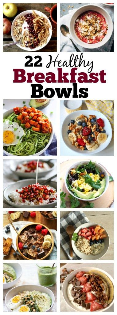 Enjoy these 22 Epic Healthy Breakfast Bowls that are perfect for those with dietary restrictions such as vegan, paleo, gluten-free and whole 30!