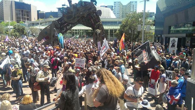 More than 1000 people marched from Aotea Square to the US Consulate in Auckland against the TPPA Deal and Obama!.... NOV 8 2014