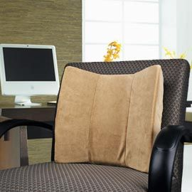 Solutions - Velour Lumbar Support for your office or car chair for hours of relief from back pain! i need this for my desk chair at work!