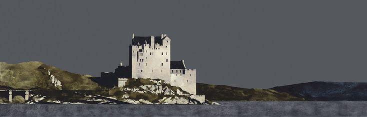 Ron Lawson, Eilean Donan Castle. SLE Print | Scottish Contemporary Art