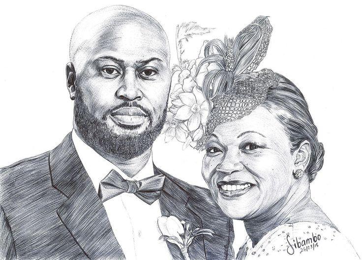 Sibambo Portraits, pen drawings
