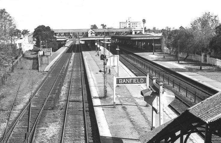 Estación Banfield, FFCC Gral. Roca, año 1978, foto Marcelo Arcas