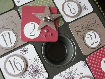 Adventskalender  Use a muffin tin for 24 muffins - how clever