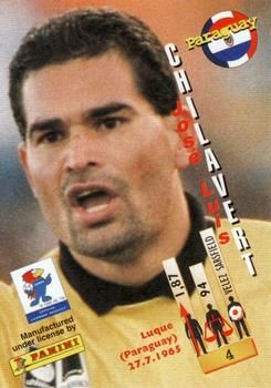 1998 Panini World Cup #4 Jose Luis Chilavert Back