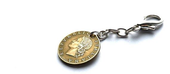 Italian Purse charm Vintage charm Coin charm Vintage