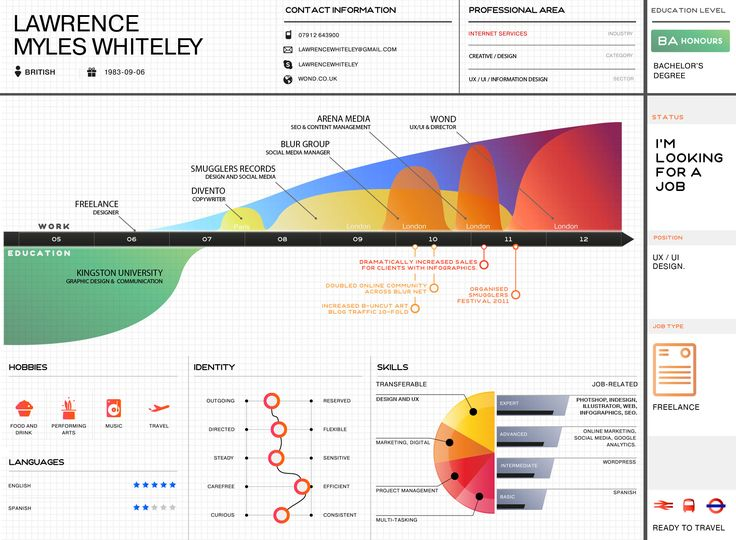 25 Best Images About Visual Resume / CV On Pinterest