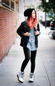fechando o visual - blusa jeans e jaqueta