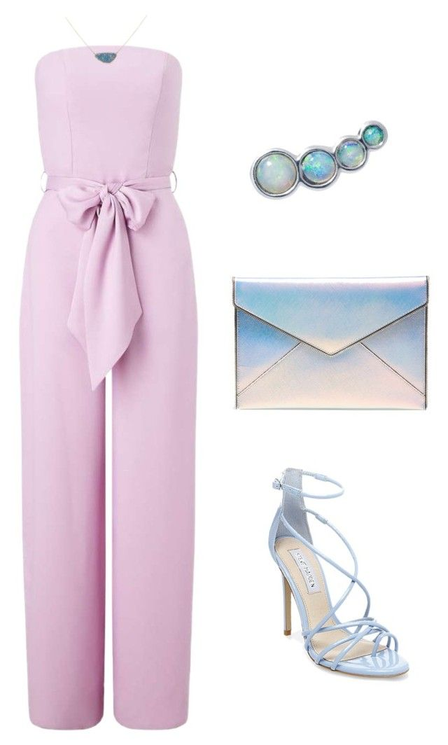 light summer evening outfit by justyna-kowalcze on Polyvore featuring moda, Miss Selfridge, Steve Madden, Rebecca Minkoff and Lee Renee