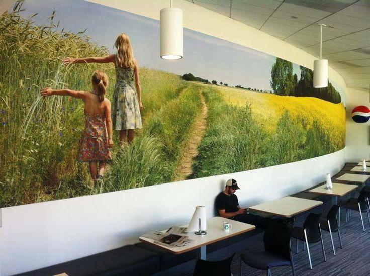Beautiful wrap around wall graphic #wideformat