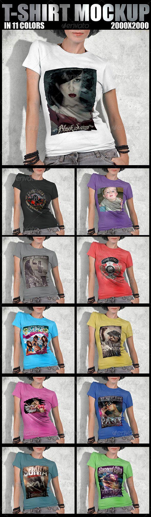 Shirt design photoshop template - T Shirt Mockup Design