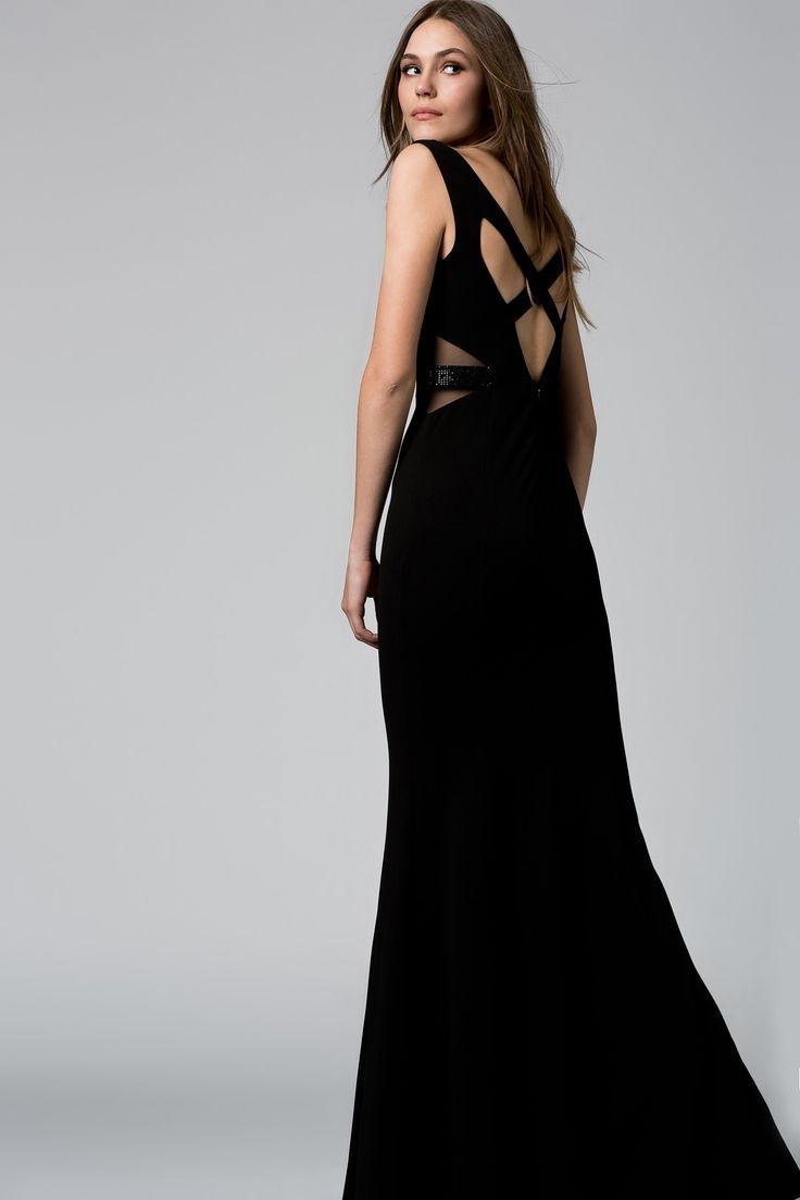 Sırt Detaylı Siyah Elbise MLWSS16BE2481 TRENDYOLMİLLA   Trendyol