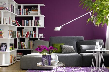 Die besten 25 lila zimmer ideen auf pinterest lila - Wandfarbe purpur ...
