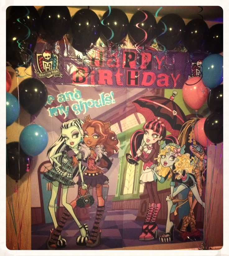 Monster High birthday party theme.