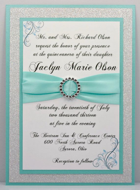 quinceanera invitation sample