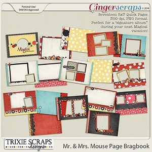 Mr. & Mrs. Mouse 5x7 Bragbook by Trixie Scraps Designs