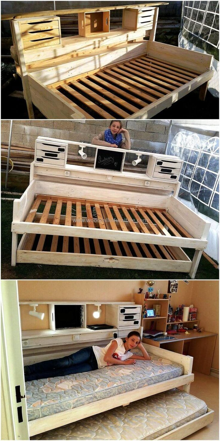 here we are presenting reused wood pallet bed plan for your home this bed plan - Orientation Chambre Feng Shui