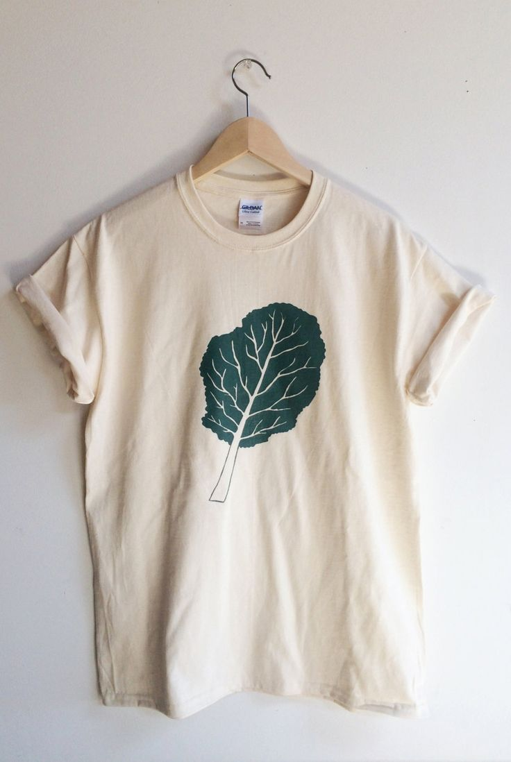 Kale screenprinted t-shirts, sizes upto 3XL