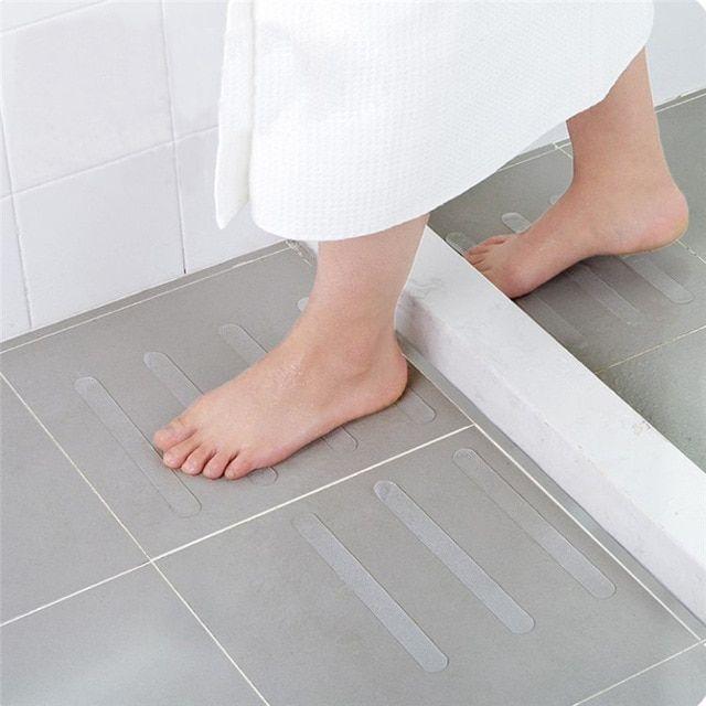 5pcs Anti Slip Bath Grip Stickers Non Slip Shower Strips Flooring