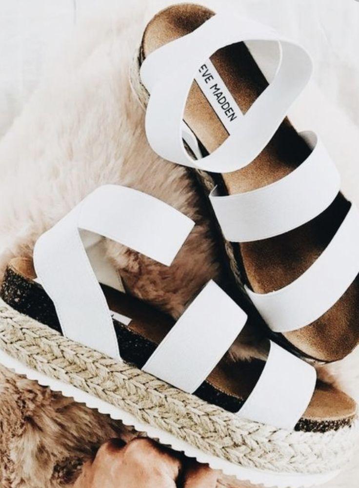 steve Madden kirsten layered platform sandals | white ...