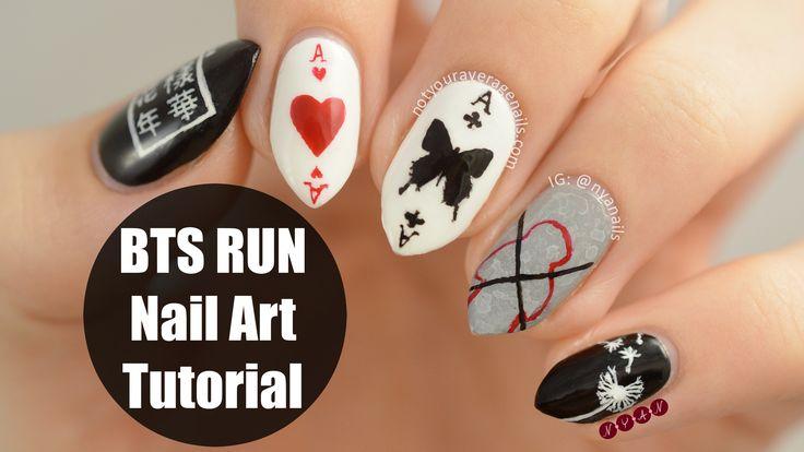 #BTS #Run Inspired Nail Art Tutorial
