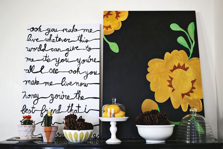 this might work with some Limp Bizkit lyrics <3  http://www.abeautifulmess.com/2013/01/nesting-simple-song-lyrics-painting.html