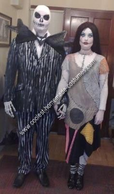 Homemade Jack Skellington and Sally Costume... This website is the Pinterest of costumes