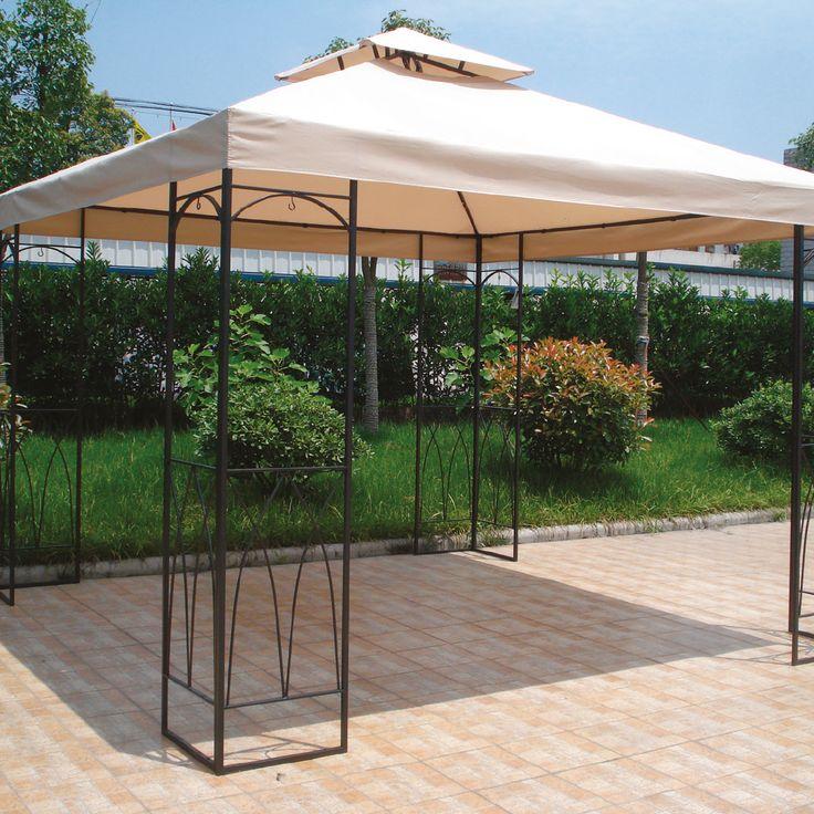 Combate el sol en tu terraza con esta pérgola color beige. #easytienda #Vacaciones #Easy
