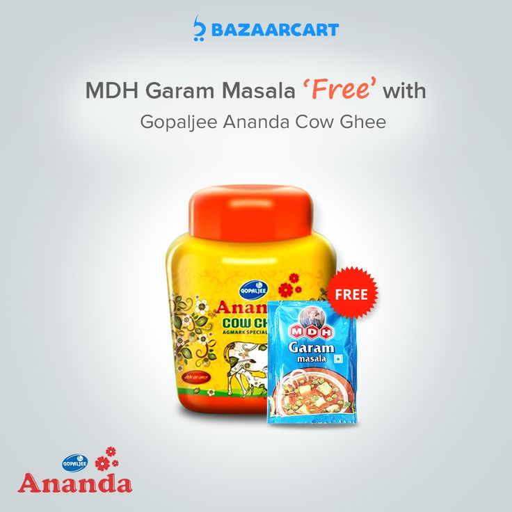 Now health & taste together. MDH Garam Masala 'Free' with Gopaljee Ananda Cow Ghee #follow #halwa #almonds #desi #ghar #pure #shudh #desighee #spices #chilli #breakfast #lunch #dinner #oilandghee #bazaarcart  Gopaljee Ananda Cow Ghee: https://www.bazaarcart.com/pro…/gopaljee-ananda-cow-ghee-jar