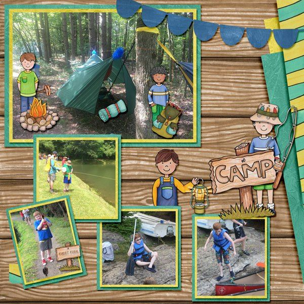 Everyday Kids - digital scrapbook layout from Kate Hadfield Designs creative team member Amy