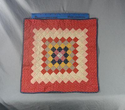 """Antique Miniature Doll Quilt, 15 1/2"""" square, NAN Antiques, Ruby Lane"""