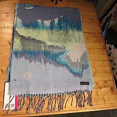 Amethyst Skies Scarf in Aqua Marine by Fraas Scarves at Dream Weaver. www.dreamweavergifts.ca