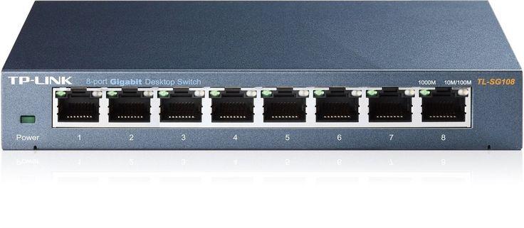 TP-Link 8-Port Gigabit Ethernet Network Switch   Sturdy Metal w/ Sheilded Por...