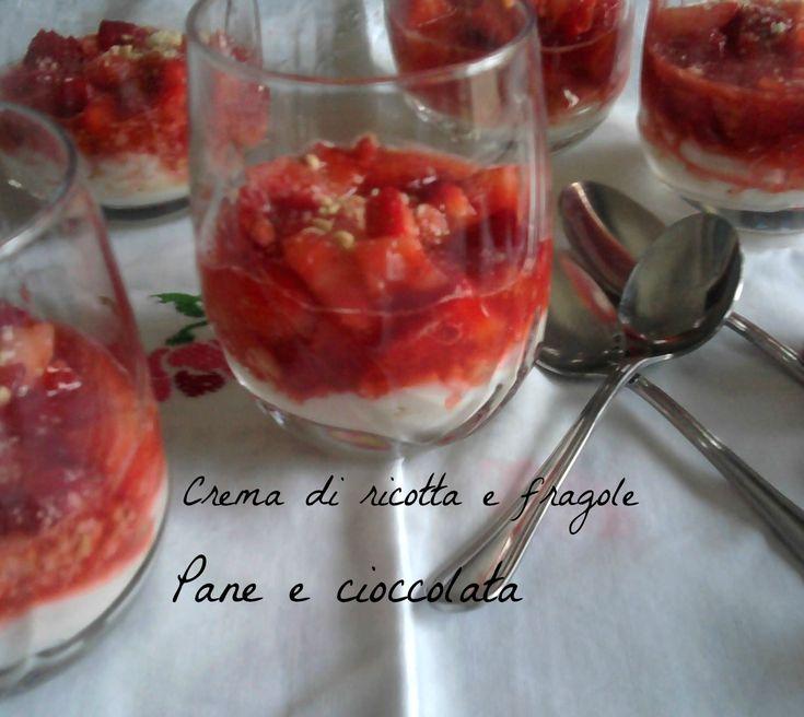 Crema di ricotta e fragole
