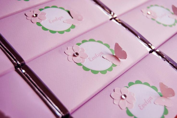 enchanted garden design, Personalised chocolate favours designed by COCO AVENUE