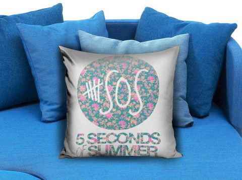 5SOS 5 Seconds of Summer Floral Pillow case  #pillow #case #pillowcase #custompillow #custom