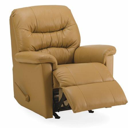 Tan Palliser Kelvin transitional recliner chair.