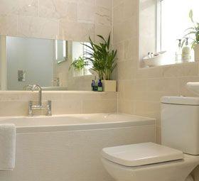 Large cream bathroom tiles   Cream bathroom, Stylish bathroom