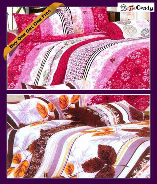 #Snapdealbestproducts Home Candy Elegant Double Bed Sheet Set - Buy 1 Get 1 Free, http://www.snapdeal.com/product/home-candy-elegant-double-bed/476534?HID=productGrid_home-kitchen_1