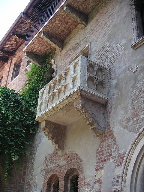 Verona, Italy - Juilet's Balcony: One of the places I've been to during a trip with my girl scouts group when I was a teenager =)